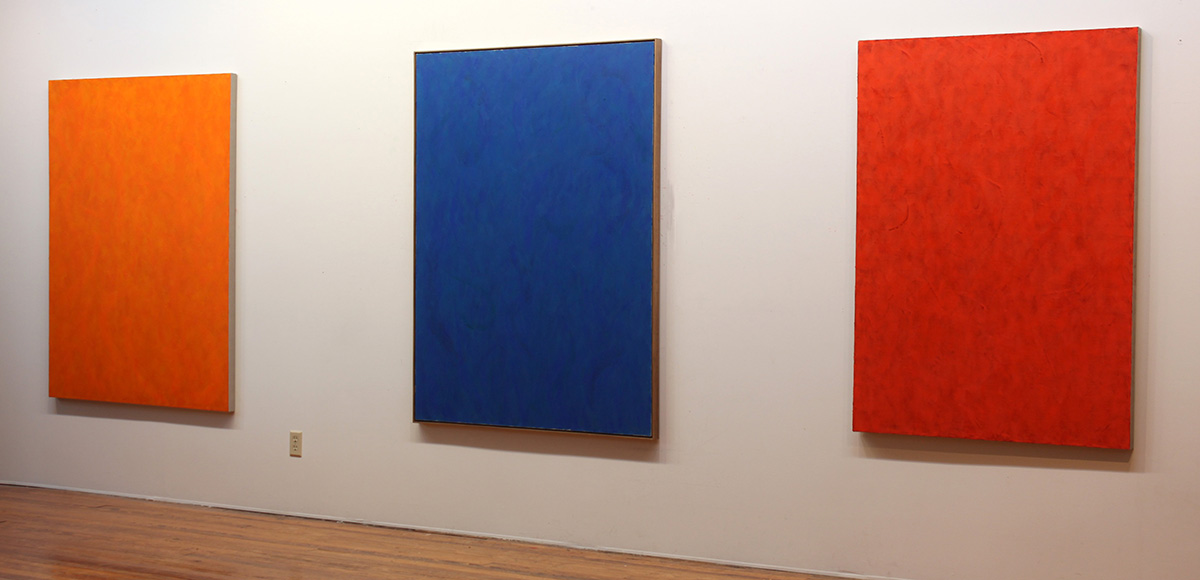 ORANGE #1, 2019 and BLUE #4, 2018  and RED #6, 2019
